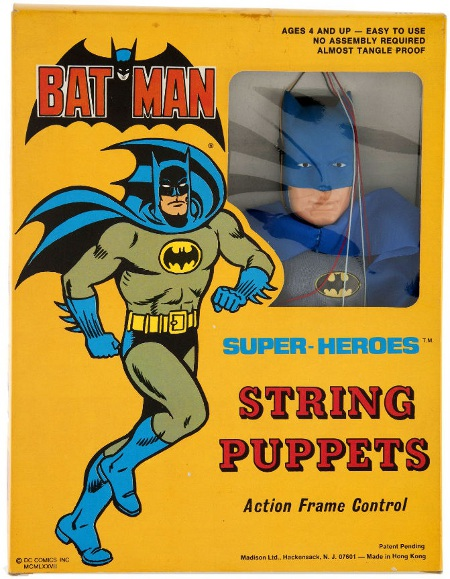1977 Batman string puppet box (front)