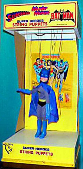 1977 Batman string puppet display