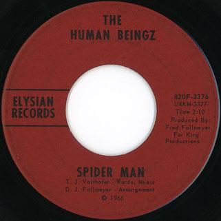 Human Beingz Spider Man 45 b-side label
