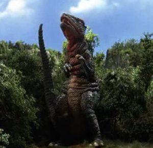 Gorosaurus, this film's lasting contribution to Toho's Kaiju line-up.