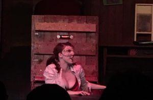 Keira Elyse in her first season as Cheryl, sinister Deadite little sister of Ash.