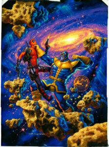 Thanos-vs-Deadpool-Hildebrandt-variant