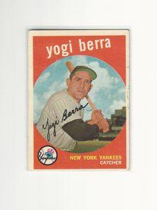 1959 Topps Baseball Yogi Berra Card #180