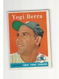 1958 Topps Baseball Yogi Berra Card #370
