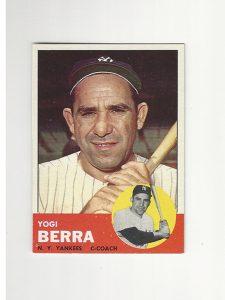 1963 Topps Baseball Yogi Berra Card #340