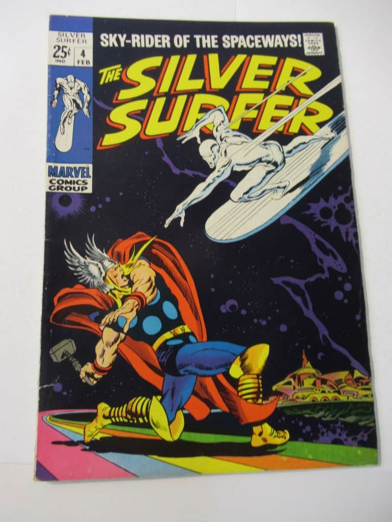 Silver Surfer #4 Thor Fight Cover