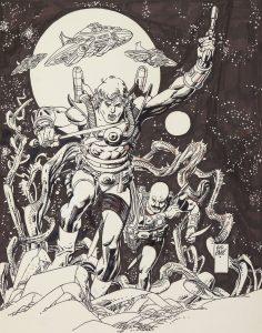 Star Hawks Pin-up Gil Kane Comic Art