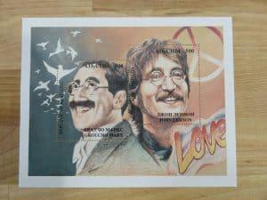 Abkhazia Marx Lennon Stamp