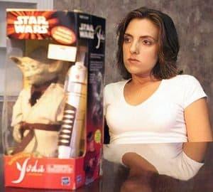 Hooters Toy Yoda Waitress Jodee Berry